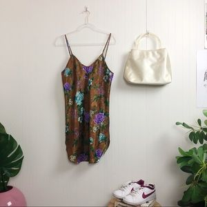 Vintage: 80s Floral Slip dress >> Size S-L